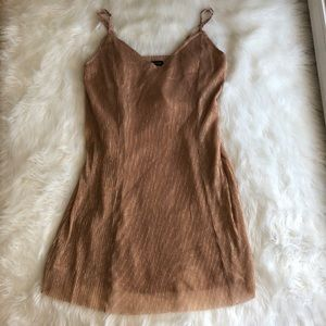 Kendall & Kylie Dresses - Kendall & Kylie •NWT Pink Gold Metallic Mini Dress